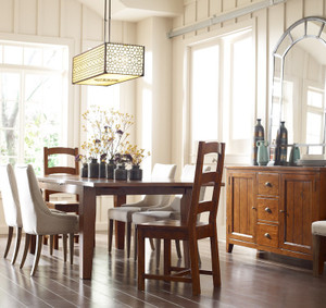 "Coastal Reclaimed Wood Extending Dining Table 96"""