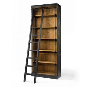 French Library Bookcase with Ladder