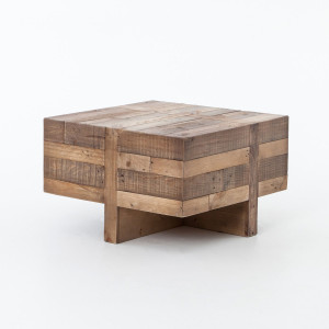 Angora Reclaimed Wood Square Side Table