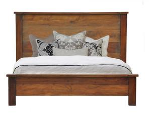 Hampton Solid Wood California King Bed-Brown