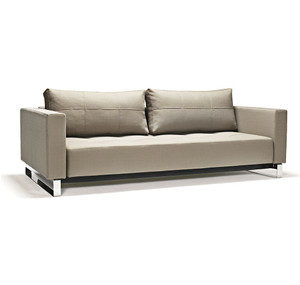 Cubed Deluxe Full Size Leather Sleeper Sofa Bed Zin Home