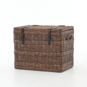 Wicker Woven Trunk End Table