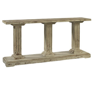 Deauville French Column Solid Wood Console Table