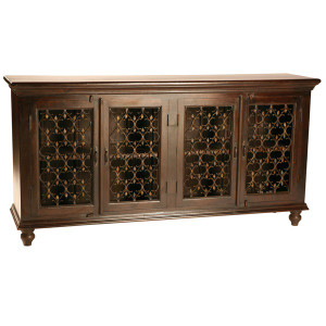 Santa Fe Solid Wood 4 Door Sideboard Buffet