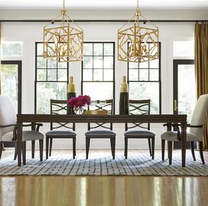 """California Rustic Oak Extending Dining Table 114"""""""