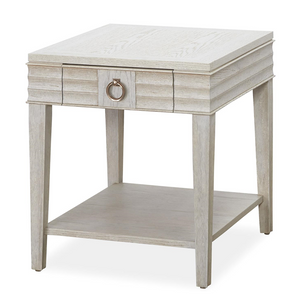 California Rustic White Oak 1 Drawer End Table