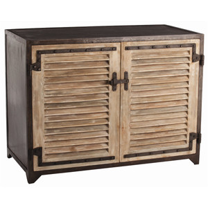 Paris Industrial Iron + Wood 2 Door Cabinet