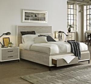 Modern Gray Platform Storage Bedroom Set - Queen