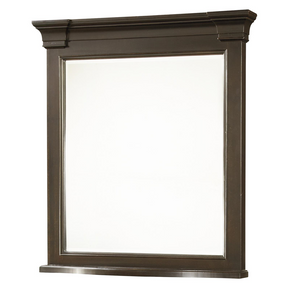 Country-Chic Maple Wood Bedroom Mirror - Black