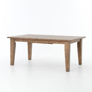 "Coastal Beach Reclaimed Wood Extending Dining Table 96"""