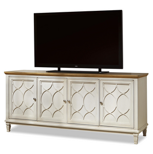 French Modern Light Wood 4 Door Media Console