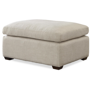 Haven Belgian Linen Upholstered Ottoman