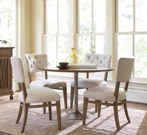 Maison French Industrial 5 Piece Round Kitchen Table Set