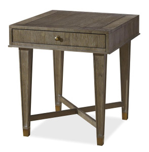 Playlist Vintage Oak 1 Drawer End Table