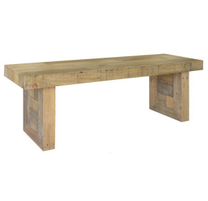 Angora Natural Reclaimed Wood Dining Bench 55""