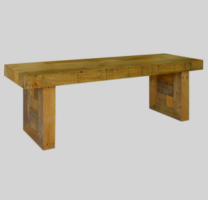 Angora Natural Reclaimed Wood Dining Bench 71""