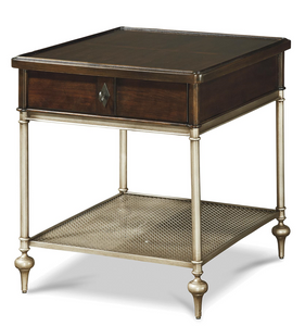 Proximity Industrial Bronze Metal 1 Drawer Side Table