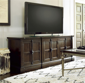Proximity Cherry Wood 3 Doors Entertainment Console