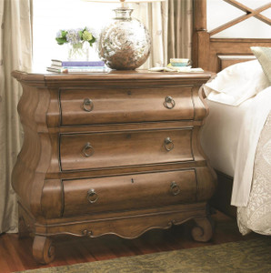 Louis Philippe Solid Wood 3 Drawers Bombe Chest