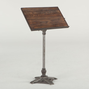 Conductor's Industrial Metal and Wood Music Stand