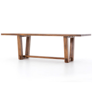 Beam Natural Solid Wood Dining Table 94""