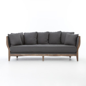 Hayes Wood Frame Sofa in Finn Charcoal