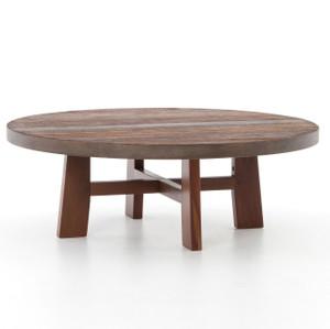 "Lauren Reclaimed Wood Round Coffee Table 36"""