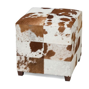 Remington Square Cowhide Ottoman
