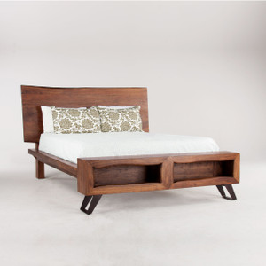Brooklyn Loft Solid Wood Queen Platform Bed