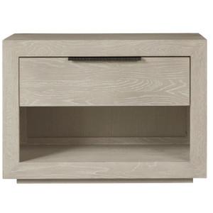 Modern Grey Oak Huston 1 Drawer Nightstand