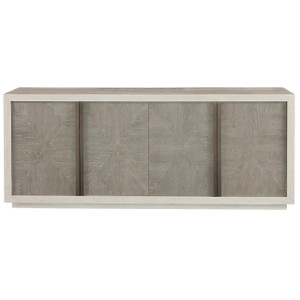 Modern Grey Oak Wood 4 Door Brinkley Credenza Sideboard