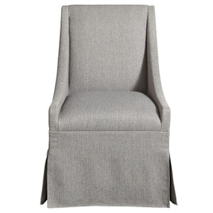 Townsend Modern Grey Upholstered Skirted Dining Chair