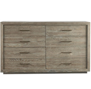 Wilshire Modern Oak Wood 8 Drawer Double Dresser 72""