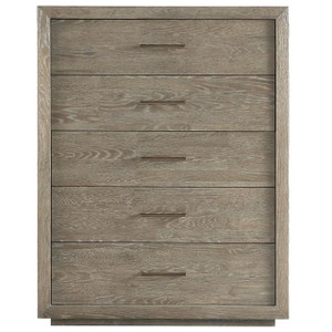 Wilshire Modern Oak Wood 5 Drawers Tall Chest