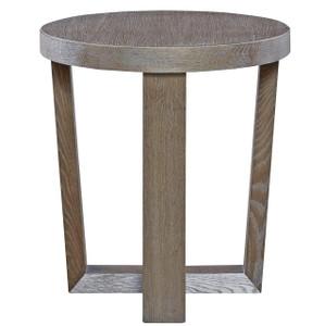 Wilshire Modern Oak Wood Round End Table