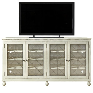 Sojourn French Country White Entertainment Center Console