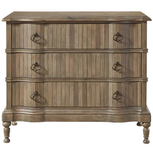 French Country Scalloped 3 Drawers Hallway Chest