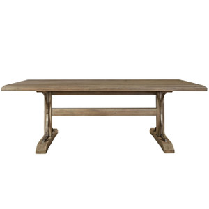 French Vintage Gray Oak Oval Extension Dining Table 72