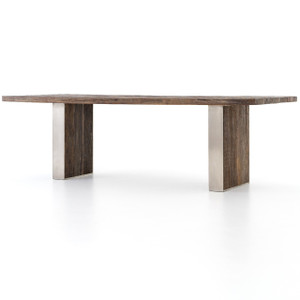 Keith Reclaimed Peroba Wood Dining Table 96""