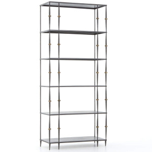 Art-Deco Penelope Iron Bookshelf