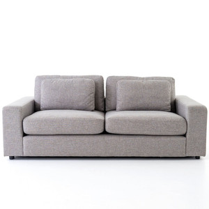 """Bloor Contemporary Gray Fabric Upholstered 2 Cushion Sofa 82"""""""