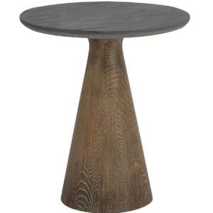 Ellington Reclaimed Oak Stone Top Round End Table