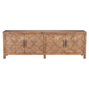 Spanish Farmhouse Reclaimed Wood 4 Door Sideboard 103""