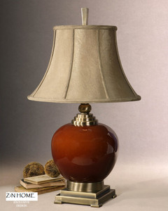 Daviel Red Ceramic Table Lamp