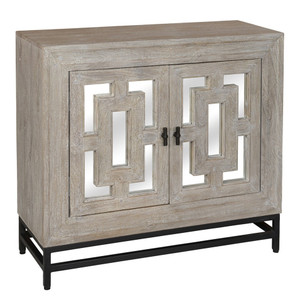Marabella 2 Door Mirrored Wood Small Sideboard