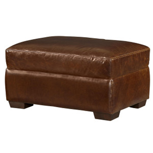 Regency 60 Quot Leather Ottomans Oxford Leather Collection
