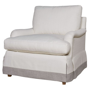 Carmichael English Rolled Arm Skirted Chair