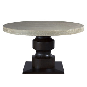 Coastal Zephyr Grey Round Dining Table 54""