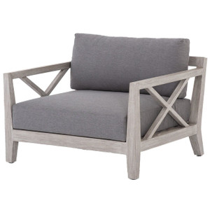 Huntington Grey Teak Outdoor Club Chair