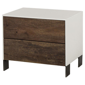 Cardosa Reclaimed Wood + White Lacquer Nightstand